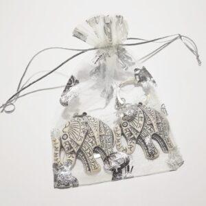 Olifant sleutelhanger - wijsheid - kracht - vriendelijkheid - geluk - lange levensduur
